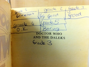 Young me's rating for Doctor Who and the Daleks